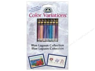 yarn & needlework: DMC Color Variations Floss Packn 8 pc. Blue Lagoon Collection