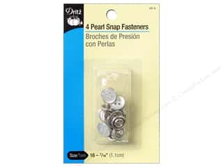Pearl Snap Fastener Buttons by Dritz 7/16 in. White 4 pc.