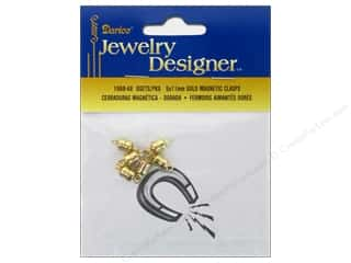 clasps: Darice Jewelry Designer Clasps Magnetic 5x11mm Gold 6pc