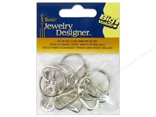 Beading & Jewelry Making Supplies: Darice Jewelry Designer Clasps Swivel 38mm Bright Silver 5pc