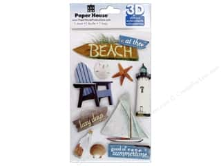 scrapbooking & paper crafts: Paper House Sticker 3D Beach
