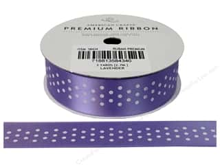 American Crafts Satin Ribbon with Dots 7/8 in. x 2 yd. Lavender