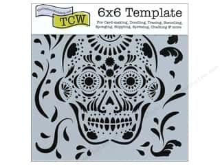 ruler: The Crafter's Workshop Template 6 x 6 in. Mexican Skull