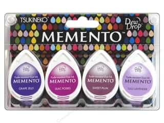 Tsukineko Memento Dye Ink Dew Drop Stamp Pad 4 pc. Juicy Purples