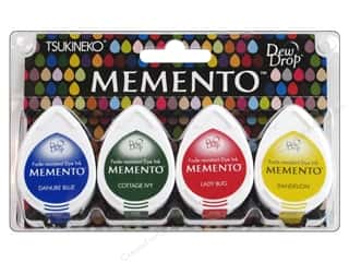 Tsukineko Memento Dye Ink Dew Drop Stamp Pad Set of 4 Prime Time