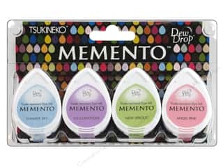 Tsukineko Memento Dye Ink Dew Drop Stamp Pad Set of 4 Oh Baby
