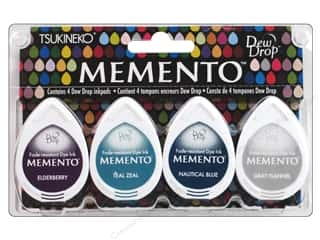 Tsukineko Memento Dye Ink Dew Drop Stamp Pad Set of 4 Dolphin Play
