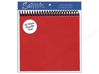 Doodle Pad by Paper Accents 6 x 6 in. Red