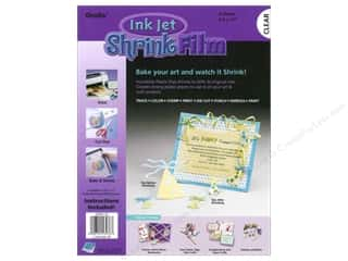 Holiday Gift Ideas Sale Art: Grafix Shrink Film 8 1/2 x 11 in. Ink Jet Clear 6 pc.