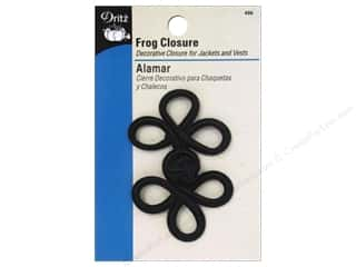 Dritz Frog Closure - 3 Loop 3 in. Black
