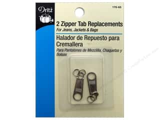 Dritz Zipper Tab Replacements 2 pc. Nickel