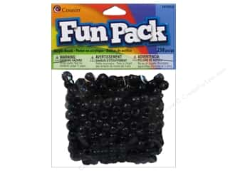 beading & jewelry making supplies: Cousin Fun Pack Pony Beads 250 pc. Black