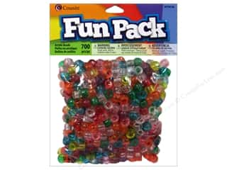 craft & hobbies: Cousin Fun Pack Pony Beads 700 pc. Transparent Rainbow Mix