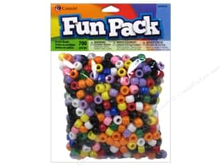 beading & jewelry making supplies: Cousin Fun Pack Pony Beads 700 pc. Rainbow Mix