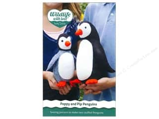 Wool Felt & Felting Patterns: Wildlife with Love by Betz White Poppy And Pip Penguins Pattern