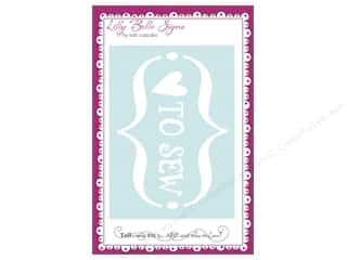 Clearance Kati Cupcake Lilly Belle Signs Decal: Kati Cupcake Lilly Belle Signs Decal Love To Sew Car White