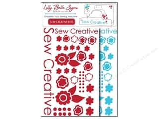Kati Cupcake Lilly Belle Signs Decal Sewing Pack Turquoise & Red