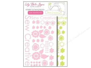 craft & hobbies: Kati Cupcake Lilly Belle Signs Decal Sewing Pack Lime & Pink