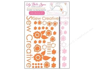 Clearance Kati Cupcake Lilly Belle Signs Decal: Kati Cupcake Lilly Belle Signs Decal Sewing Pack Pink & Orange