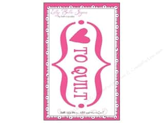 Clearance Kati Cupcake Lilly Belle Signs Decal: Kati Cupcake Lilly Belle Signs Decal Love To Quilt Car Pink