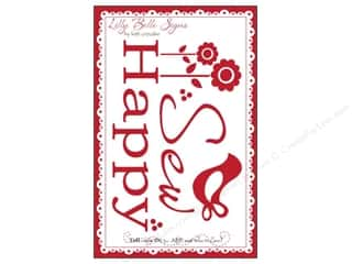 Clearance Kati Cupcake Lilly Belle Signs Decal: Kati Cupcake Lilly Belle Signs Decal Sew Happy Car Red