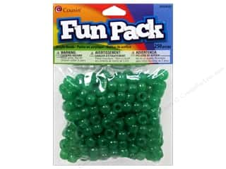beading & jewelry making supplies: Cousin Fun Pack Pony Beads 250 pc. Green