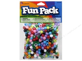 beading & jewelry making supplies: Cousin Fun Pack Mini Pony Beads 650 pc. Multi Mix