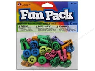 Weekly Specials Jewelry Making: Cousin Bead Fun Pack Smile/Ying/Jeans/Car Love 32pc
