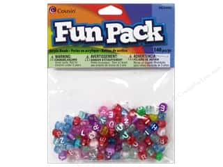 Cousin Fun Pack Alphabet Beads 140 pc. Round Transparent Mix