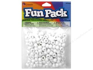 beading & jewelry making supplies: Cousin Fun Pack Pony Beads 250 pc. White