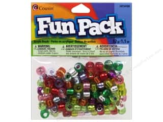 Weekly Specials Jewelry Making: Cousin Bead Fun Pack Pony Silver Lined Mix 1.1oz