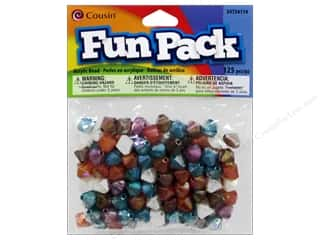 Weekly Specials Jewelry Making: Cousin Bead Fun Pack Bicone Facet Multi Pastel 125pc