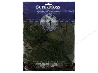 moss: SuperMoss Premium Preserved Sheet Fresh Green 2oz