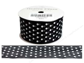 American Crafts Sheer Ribbon with Dots 1 1/2 in. x 3 yd. Black