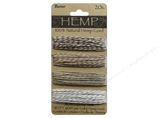 beading & jewelry making supplies: Darice Hemp Cord Set 4 pc. 20 lb. Metallic Twist
