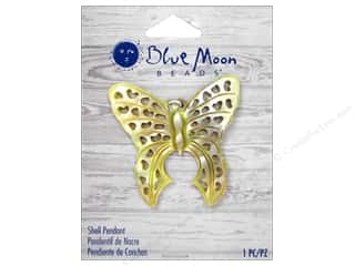 Clearance Blue Moon Pendant: Blue Moon Beads Shell Pendant Natural Cut Out Shell Butterfly