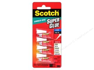 glues, adhesives & tapes: Scotch Adhesive Super Glue Single Use .017 oz 4 pc