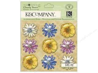 glitter felt: K&Company Stickers Tim Coffey Foliage Clearly Yours Flowers