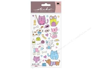 scrapbooking & paper crafts: EK Sticko Stickers Cats And Dogs