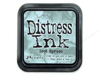 ink pad: Tim Holtz Distress Ink Pad by Ranger Iced Spruce