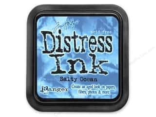 stamps: Timn Holtz Distress Ink Pad by Ranger Salty Ocean