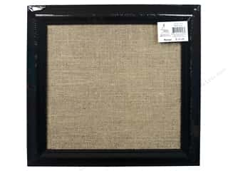 Sierra Pacific Office Cork Board with Burlap 12 in. x 12 in. Frame Black