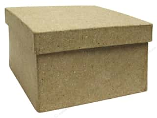 PA Paper Mache Mini Square Box 3 1/2 in.