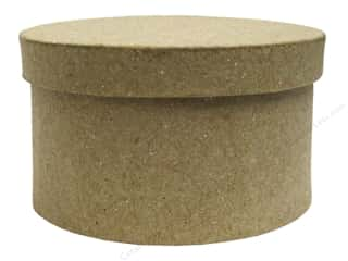 stickers: PA Paper Mache Mini Round Box 3 1/2 in.