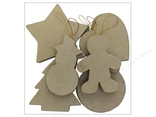 Paper Mache: PA Paper Mache Ornaments 12 pc. Assortment