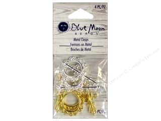 Blue Moon Bead Toggle Clasps 4 pc. Silver & Gold