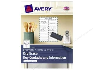 Erasers: Avery Dry Erase 8 1/2 x 11 in. Key Contacts & Information