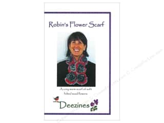 Wool Felt & Felting Patterns: Deezines Patterns Robin's Flower Scarf Pattern