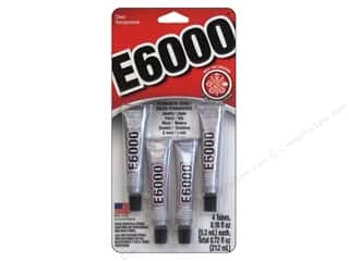 glues, adhesives & tapes: Eclectic E6000 Adhesive 0.18 oz. 4 pc. Clear