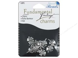 Sweet Beads Fundamental Finding Charm 4 Leaf Clover 10 pc. Silver